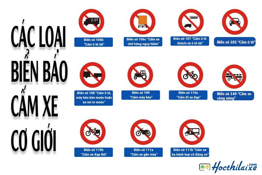 Biển báo cấm các loại xe cơ giới