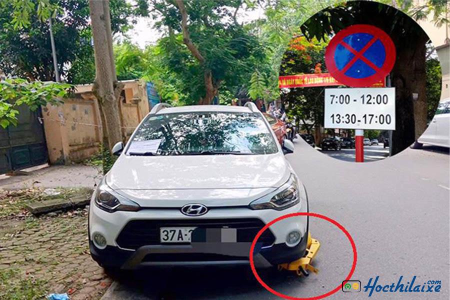 dừng xe trước biển cấm có bị phạt hay hông
