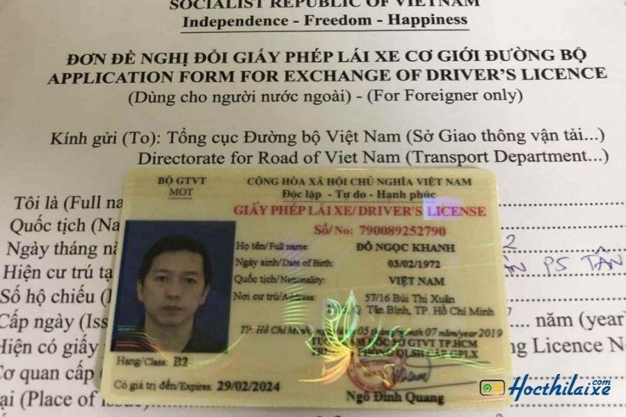 Mẫu đơn đổi giấy phép lái xe mới nhất