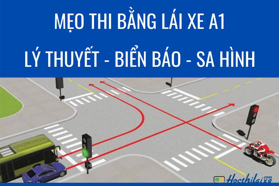 Mẹo thi lý thuyết ở phần luật giao thông