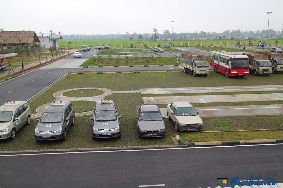 giám sát ở các vị trí sân sát hạch lái xe