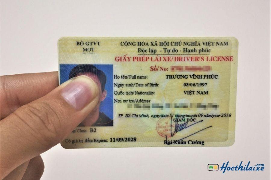 Thời hạn 10 năm đối với bằng lái xe B2