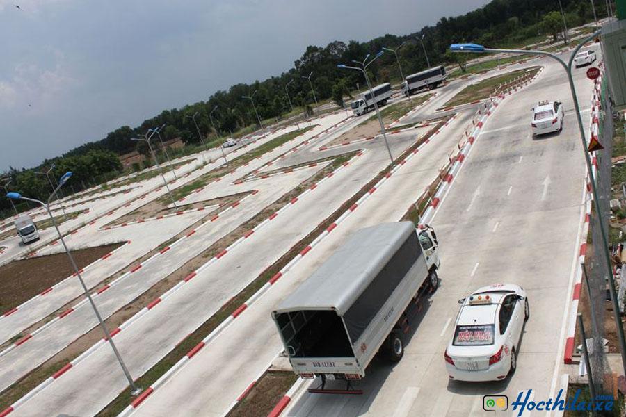 Sân tập lái xe tải hạng C tại An Thành Phát