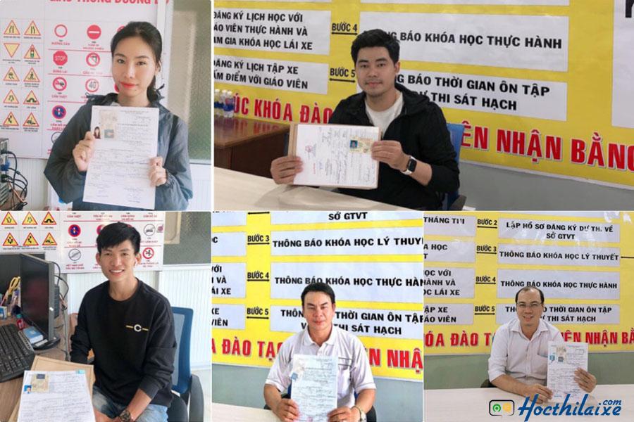 Nhiều học viên nhận bằng tại Trung tâm đào tạo và sát hạch lái xe Minh Phát