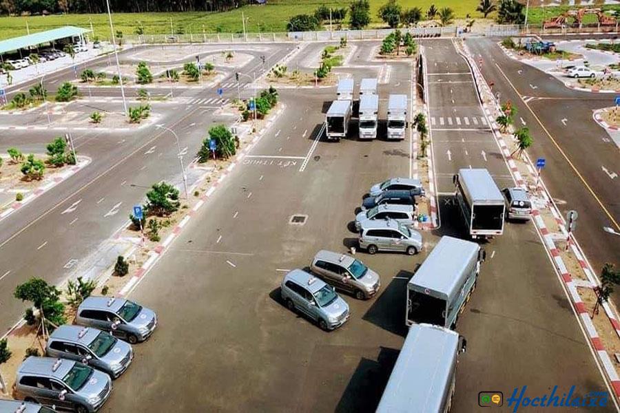Sân tập lái hạng bằng B2 tại Trung tâm dạy nghề quận 11