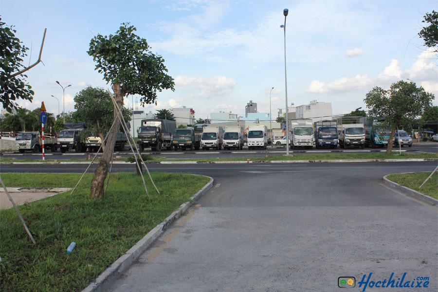 Sân tập lái Trung tâm dạy nghề lái xe Hiệp Phát