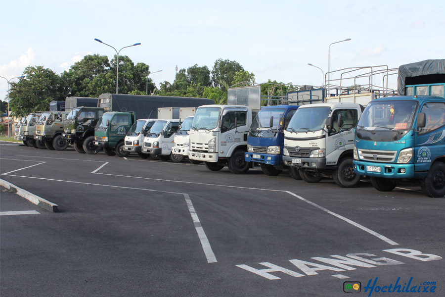 Sân tập lái cho xe hạng C Trung tâm Hiệp Phát