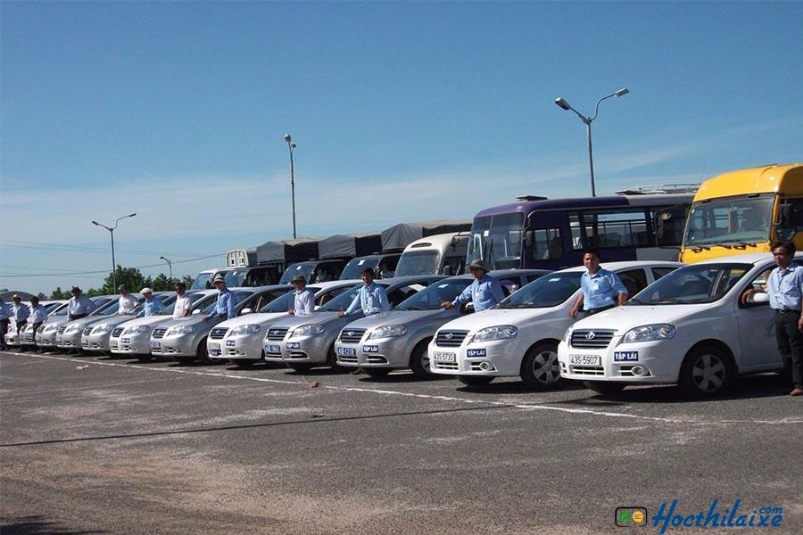 Hệ thống dàn xe tập lái tại GTCC Đà Nẵng
