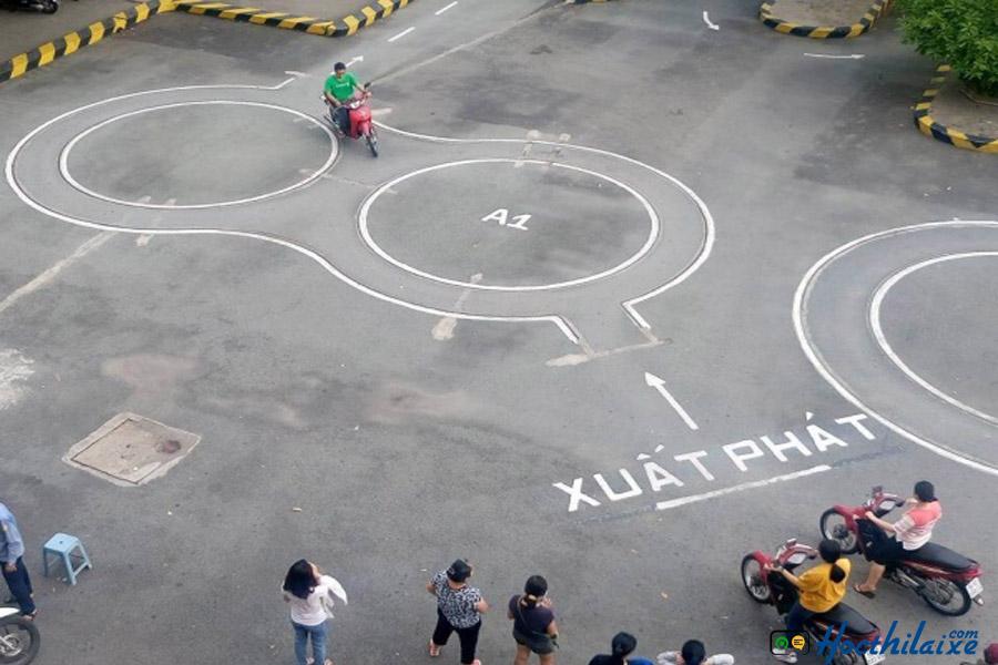 Sân luyện thi sát hạch của Trường TCN Quang Trung