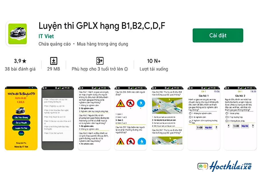 Luyện thi GPLX hạng B1, B2, C, D, F
