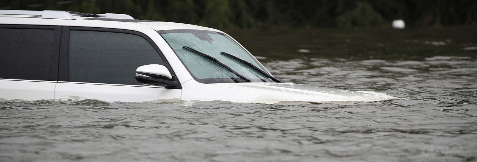 Xác định mức nước ngập là một trong các kinh nghiệm khi xe ô tô bị ngập nước