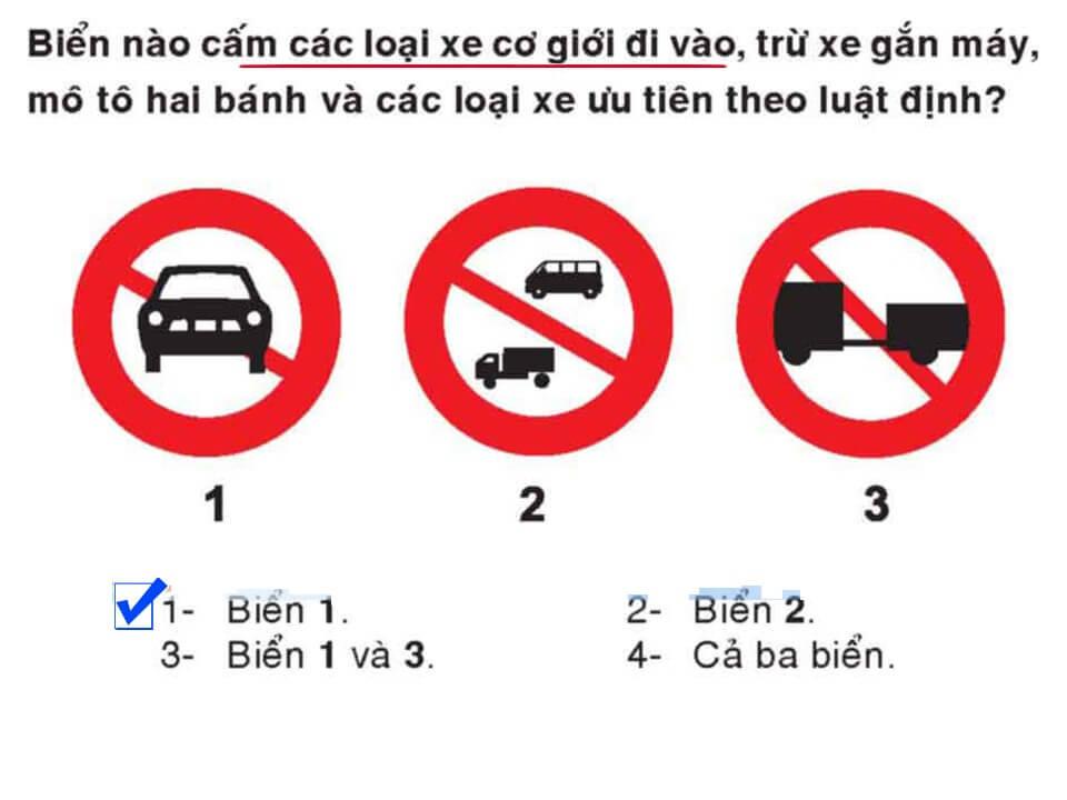 Câu 309 - Bộ 600 câu hỏi ôn thi giấy phép lái xe