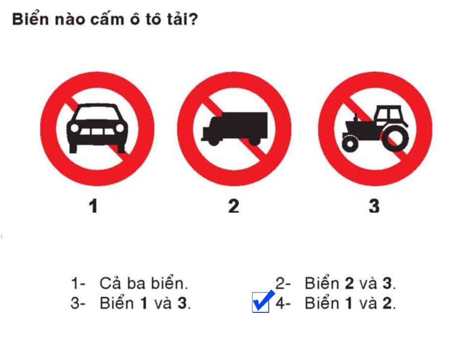 Câu 310 - Bộ 600 câu hỏi ôn thi giấy phép lái xe