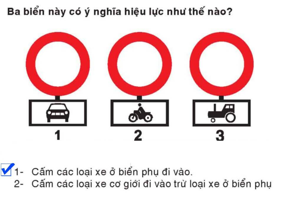 Câu 340 - Bộ 600 câu hỏi ôn thi giấy phép lái xe