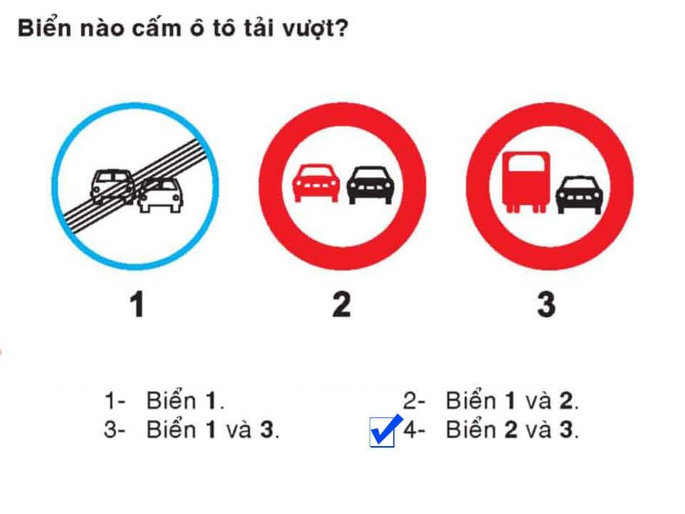 Câu 342 - Bộ 600 câu hỏi ôn thi giấy phép lái xe