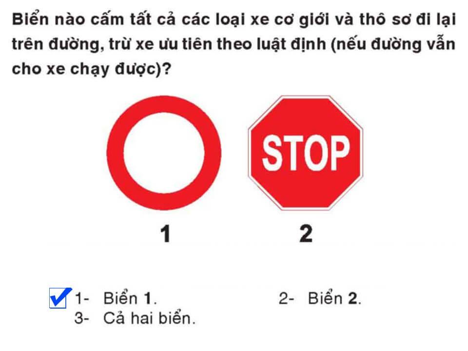 Câu 363 - Bộ 600 câu hỏi ôn thi giấy phép lái xe