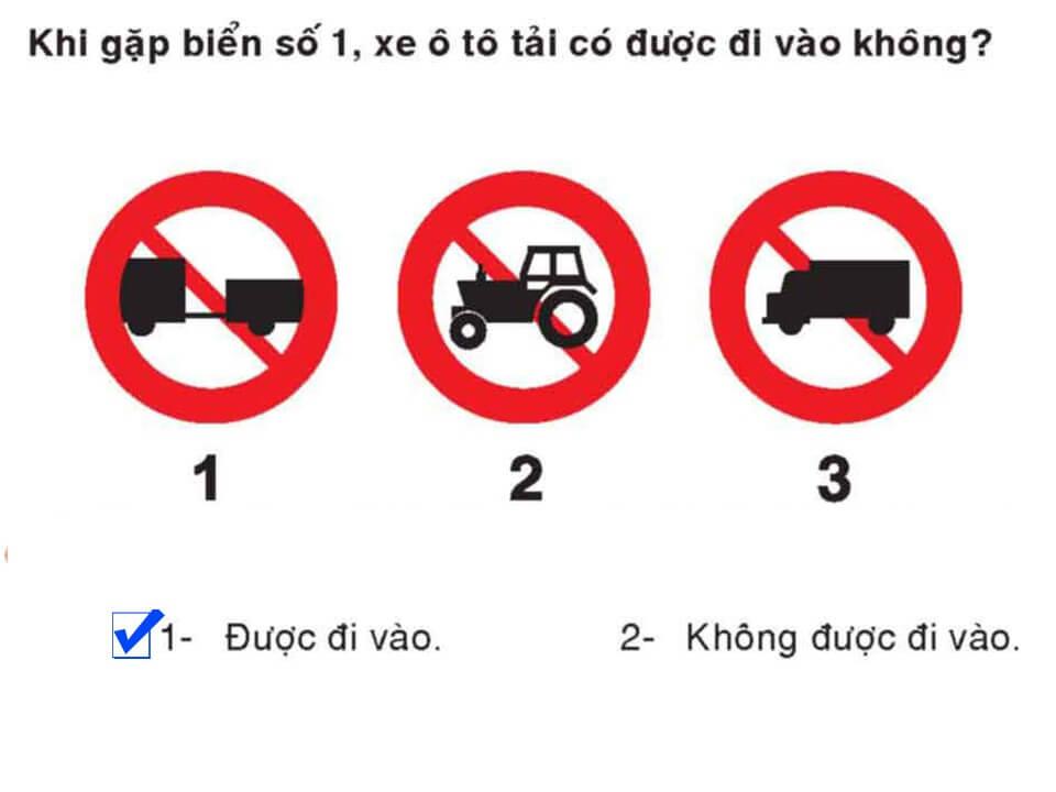 Câu 384 - Bộ 600 câu hỏi ôn thi giấy phép lái xe