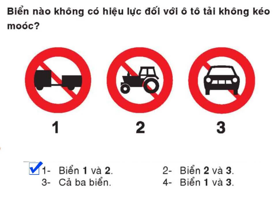 Câu 385 - Bộ 600 câu hỏi ôn thi giấy phép lái xe