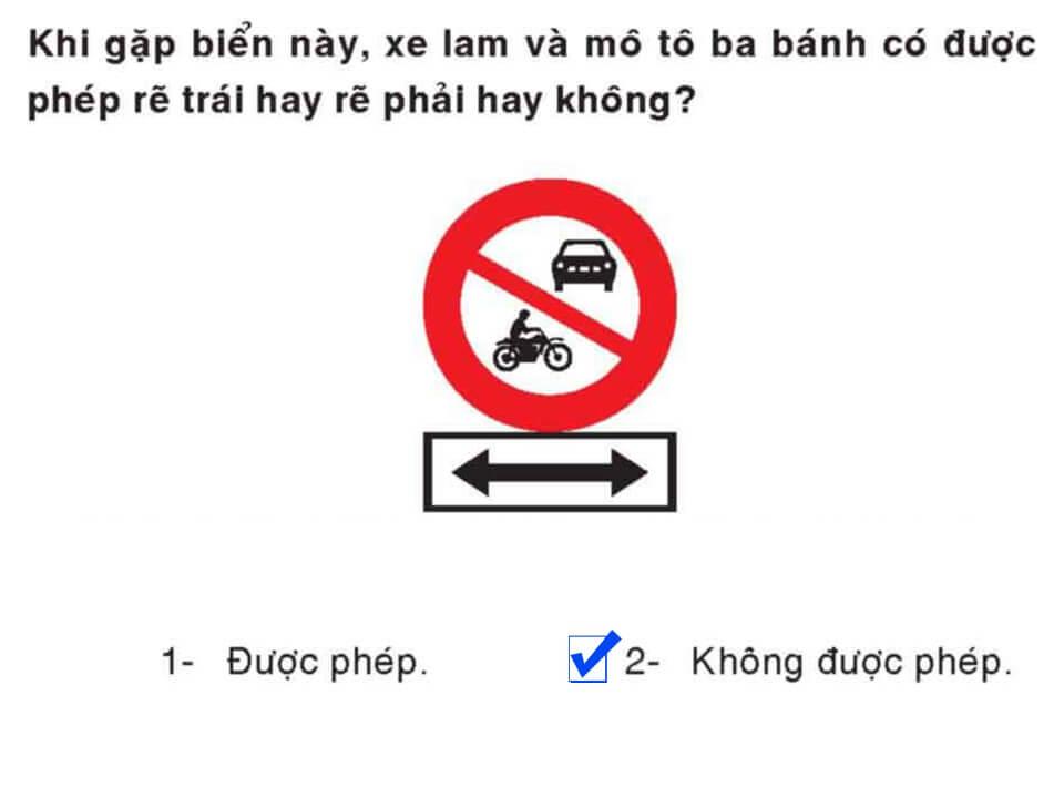 Câu 387 - Bộ 600 câu hỏi ôn thi giấy phép lái xe