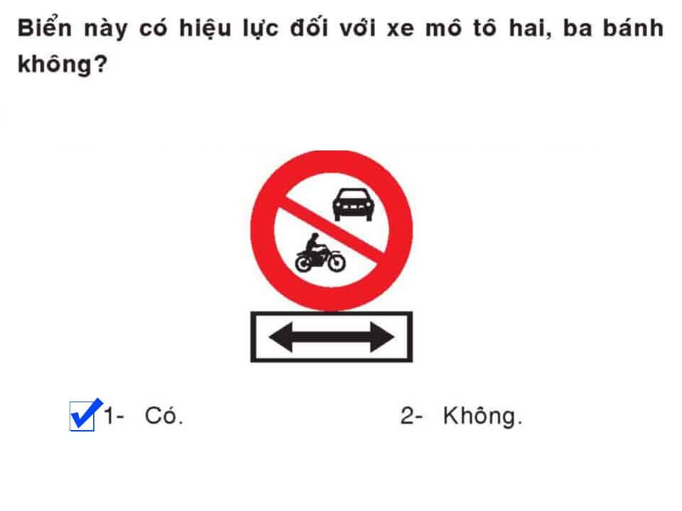 Câu 388 - Bộ 600 câu hỏi ôn thi giấy phép lái xe