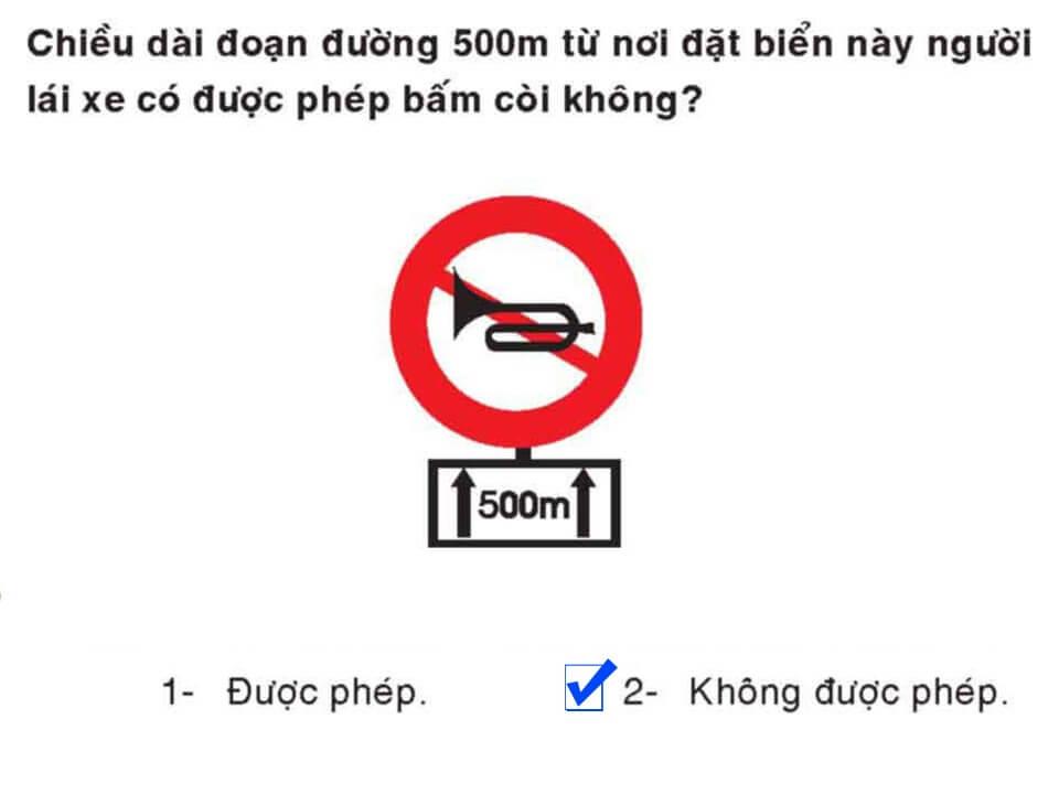 Câu 391 - Bộ 600 câu hỏi ôn thi giấy phép lái xe